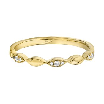 14K YG 0.05ctw Ladies Diamond Band
