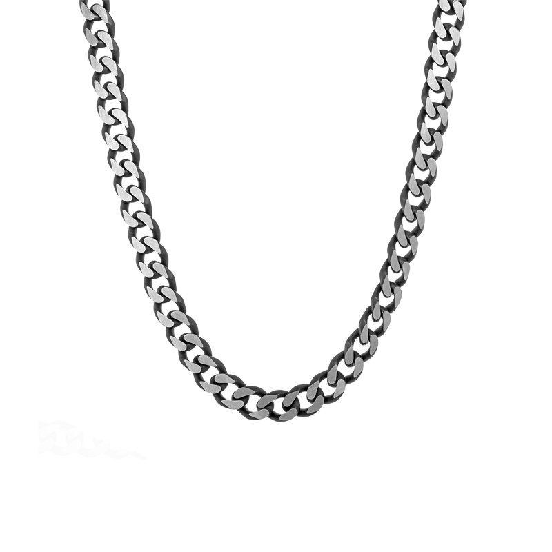 """Greenberg's stainless steel 24"""" men's curb necklace"""