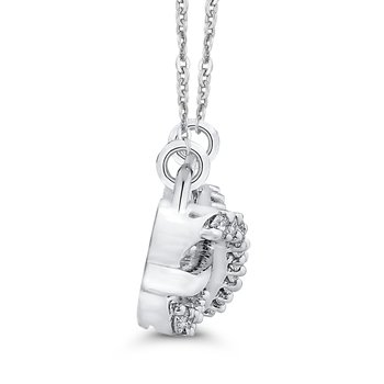 sterling silver sideways infinity diamond pendant