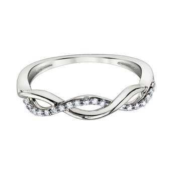 10k white gold .10ctw diamond twist anniversary band