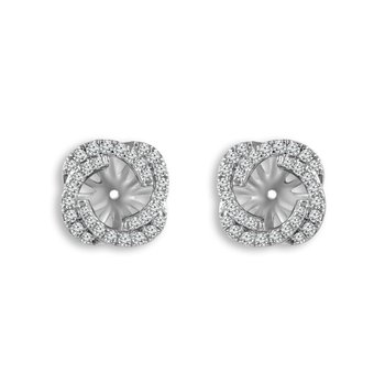 14k white gold 3/8ctw diamond earring jackets