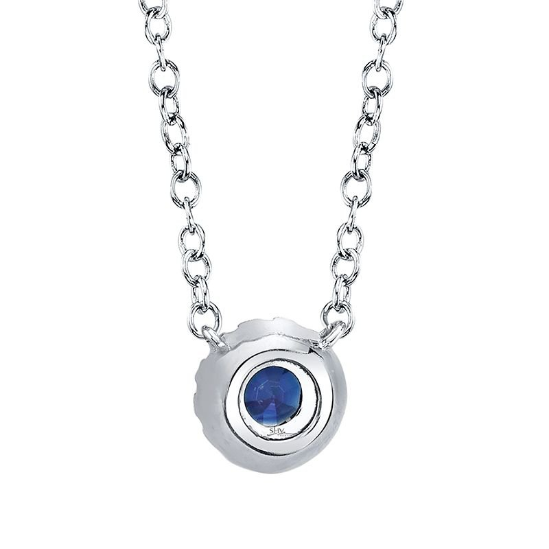 Shy Creation Eden Blue Sapphire & Diamond Pendant Necklace