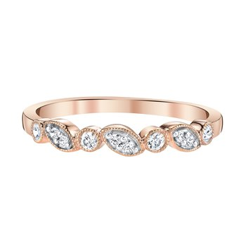 10k pink gold diamond anniversary band