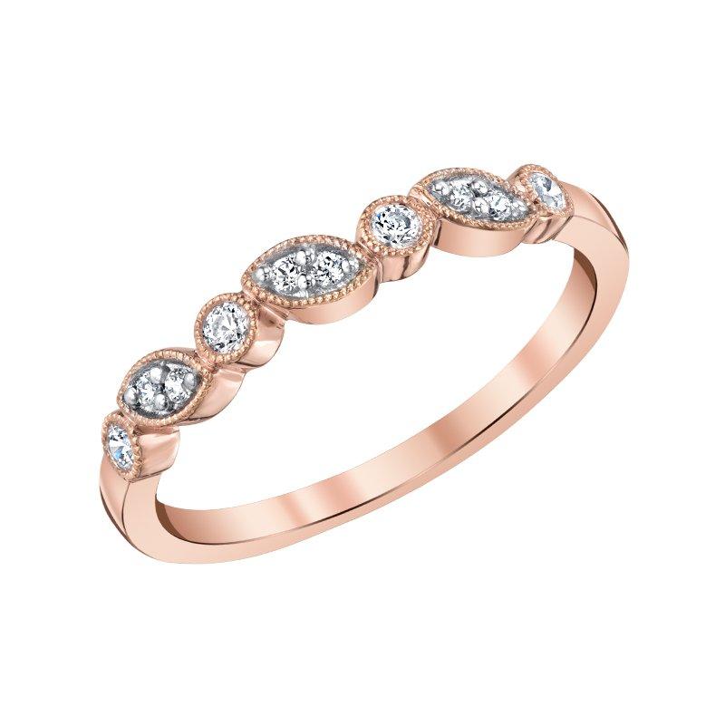 Greenberg's 10k pink gold diamond anniversary band