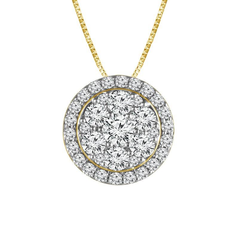 Greenberg's 14k yellow gold diamond pendant