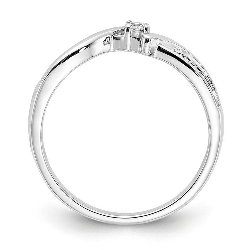 Greenberg's sterling silver and diamond .17ctw promise ring
