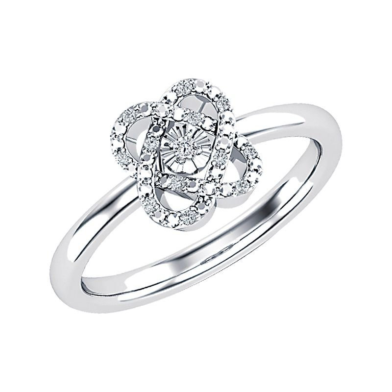 """Greenberg's sterling silver """"only you"""" collection 0.05ctw ring"""