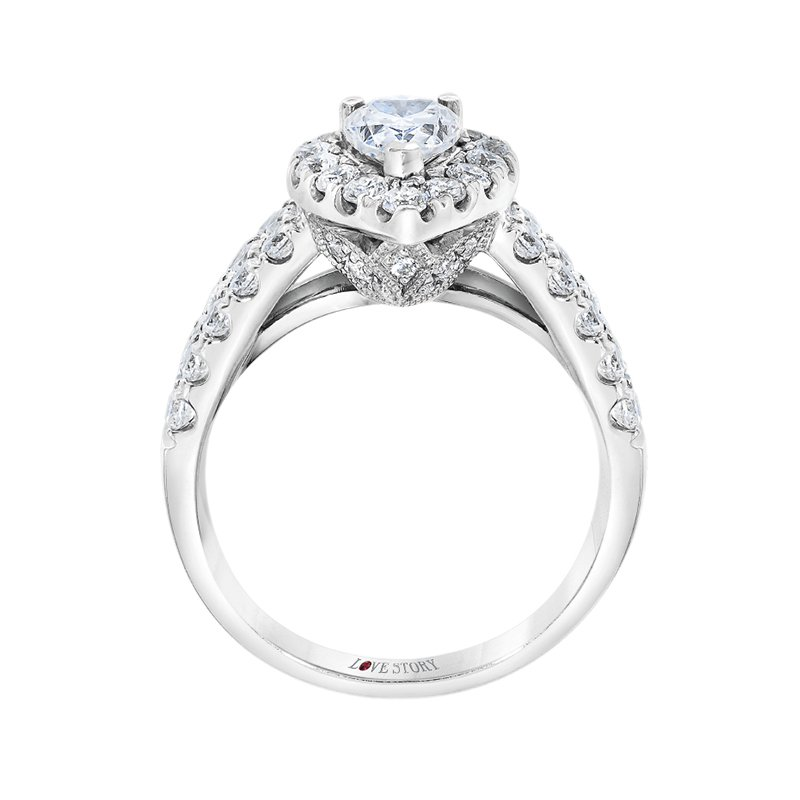 Love Story 14k white gold 2ctw 3/4 pear-shaped diamond engagement ring