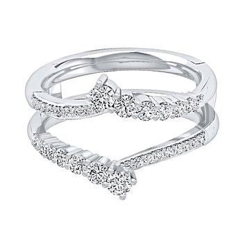 14K WG Journey 5/8ctw Diamond  Ring Insert.