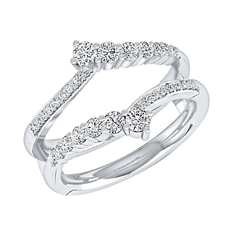 Greenberg's 14K WG Journey 5/8ctw Diamond  Ring Insert.
