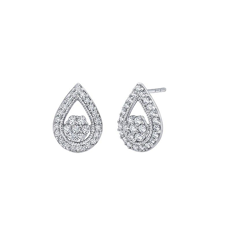 Greenberg's sterling silver 1/4ctw pear-shaped earrings