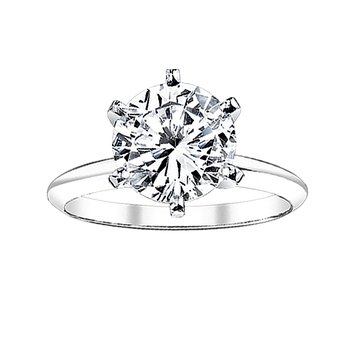 3/4ct round solitaire engagement ring