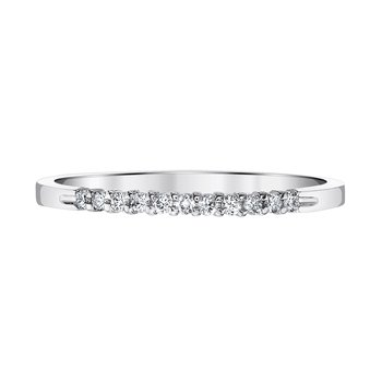 14k white gold .10ctw anniversary band