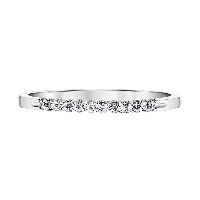 Greenberg's 14k white gold .10ctw anniversary band