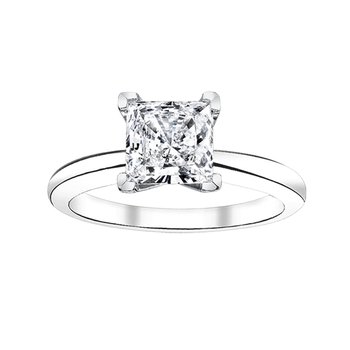 1/4 ct princess cut solitaire engagement ring