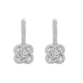 "14k white gold ""only you"" collection earrings"