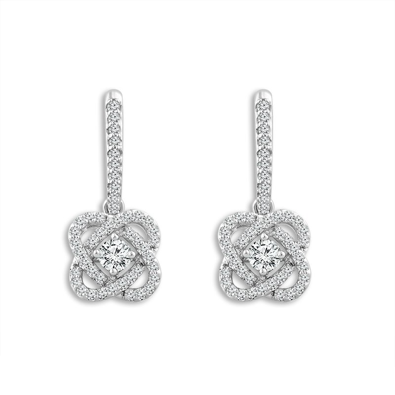 """Greenberg's 14k white gold """"only you"""" collection earrings"""