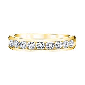 14k yellow gold 1/4ctw diamond anniversary band