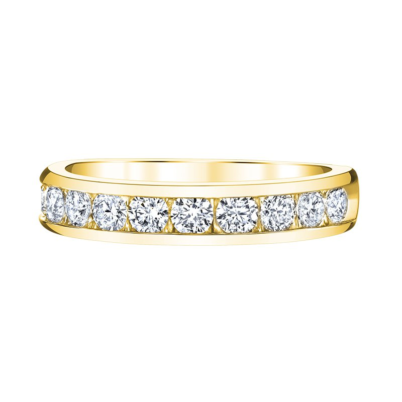 Greenberg's 14k yellow gold 1/4ctw diamond anniversary band