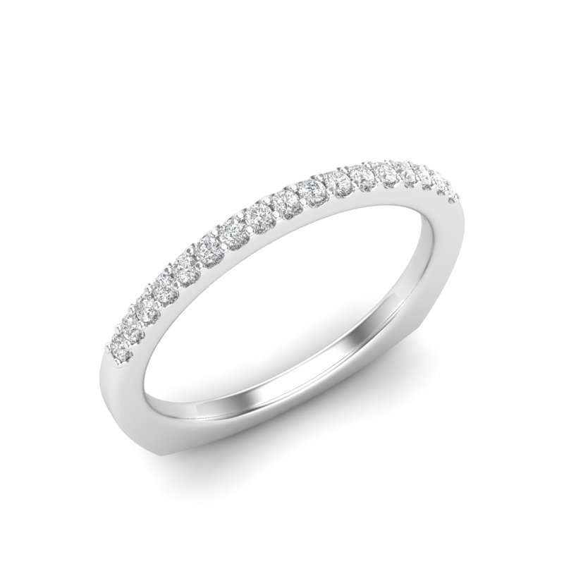 Love Story 14k white gold .15ctw diamond wedding band