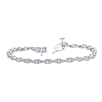 14k white gold 1.49ctw diamond bracelet