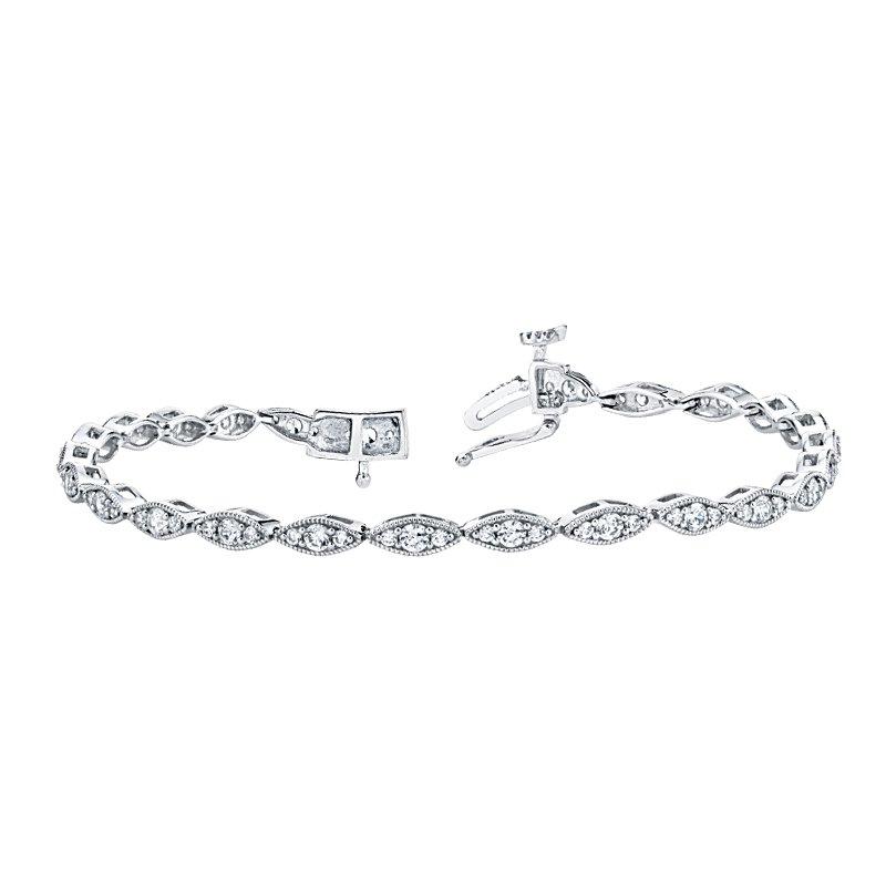 Greenberg's 14k white gold 1.49ctw diamond bracelet