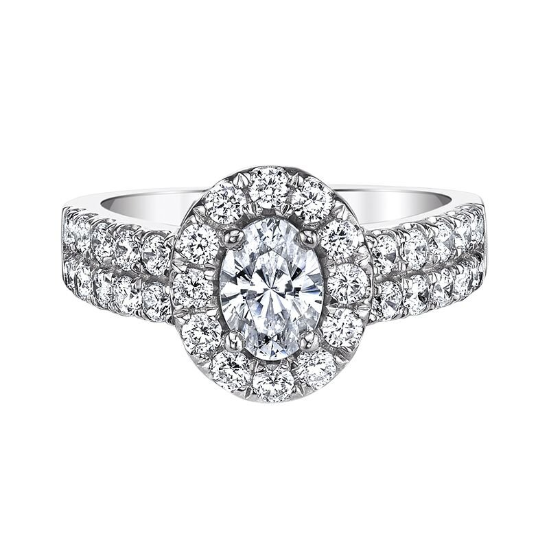 Love Story 14k white gold 2ctw 3/4ct oval-shaped diamond engagement ring