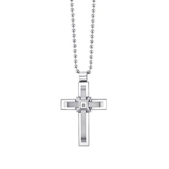 stainless steal men's cross pendant
