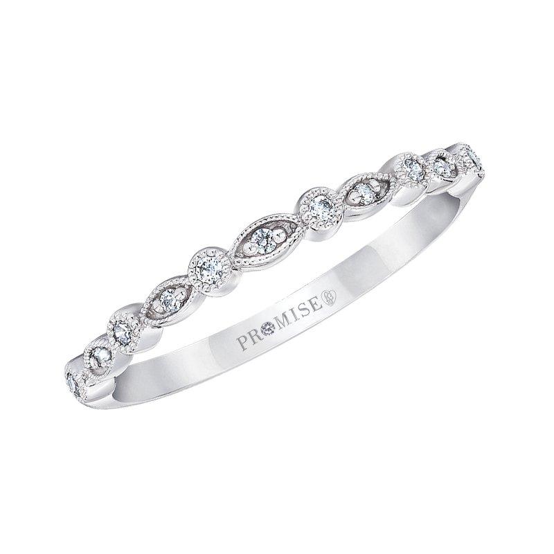 Love Story 14k white gold .07ctw diamond wedding band