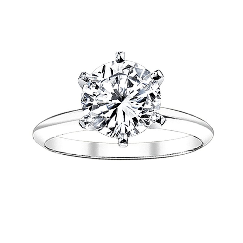 Greenberg's Solitaire Collection  1 ct round solitaire engagement ring