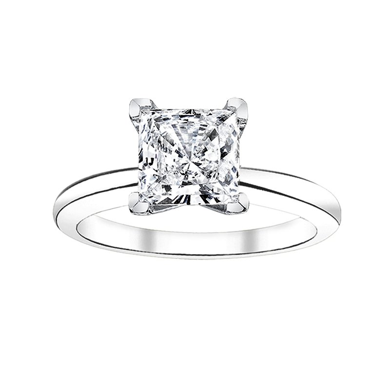 Greenberg's Solitaire Collection  3/4 ct princess cut solitaire engagement ring