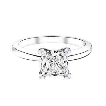 3/4 ct princess cut solitaire engagement ring