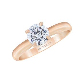 14k rose gold .07ctw semi mount engagement ring