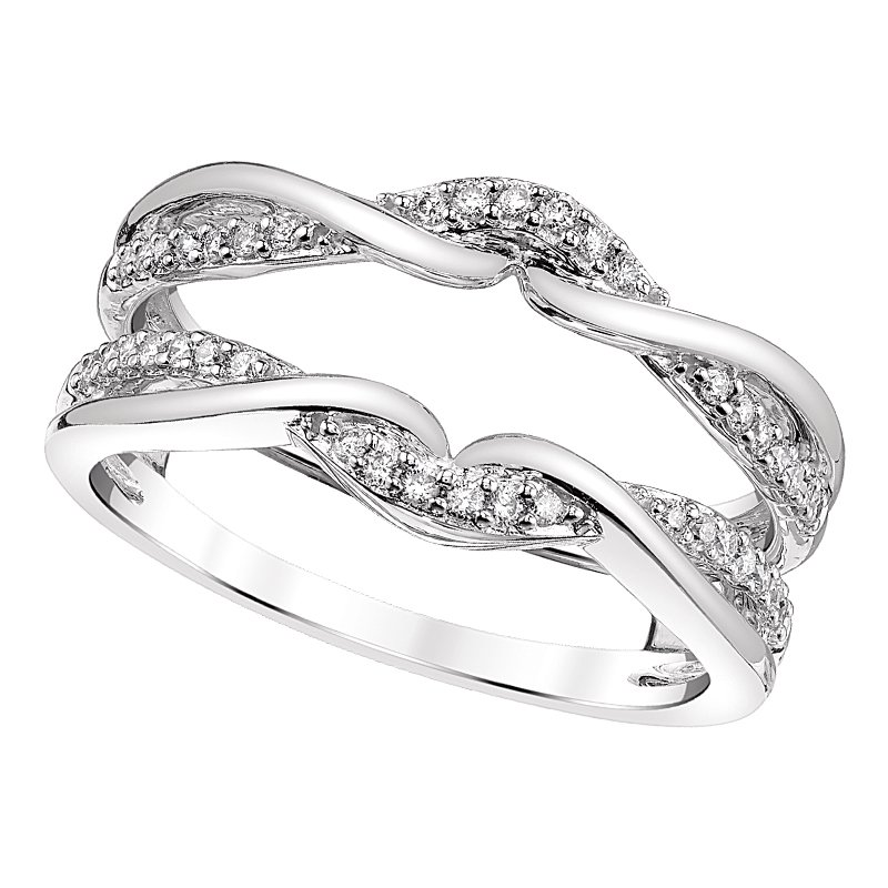Greenberg's 14k white gold 1/5ctw diamond ring guard