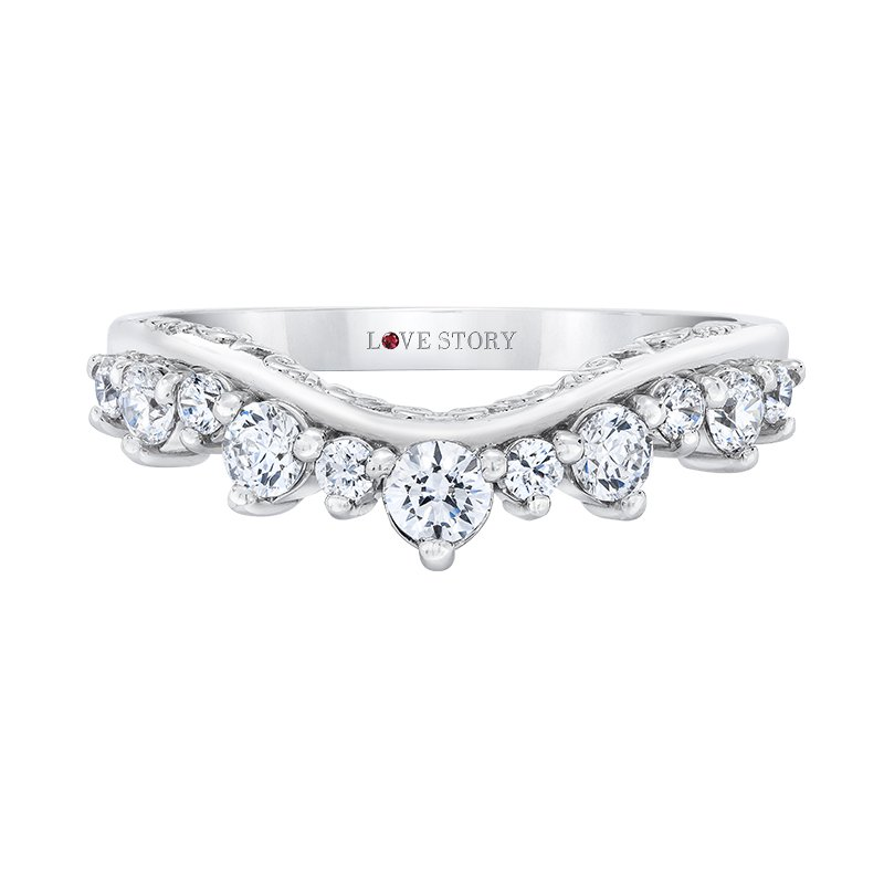 Love Story Curved Wedding Band