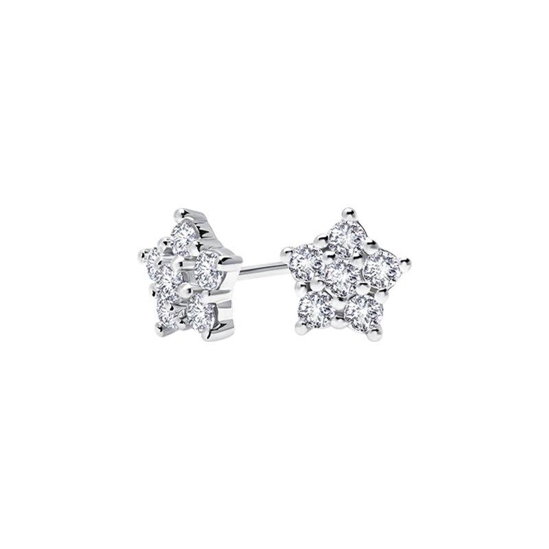 Greenberg's 10k white gold 1/2ctw star fashion earrings