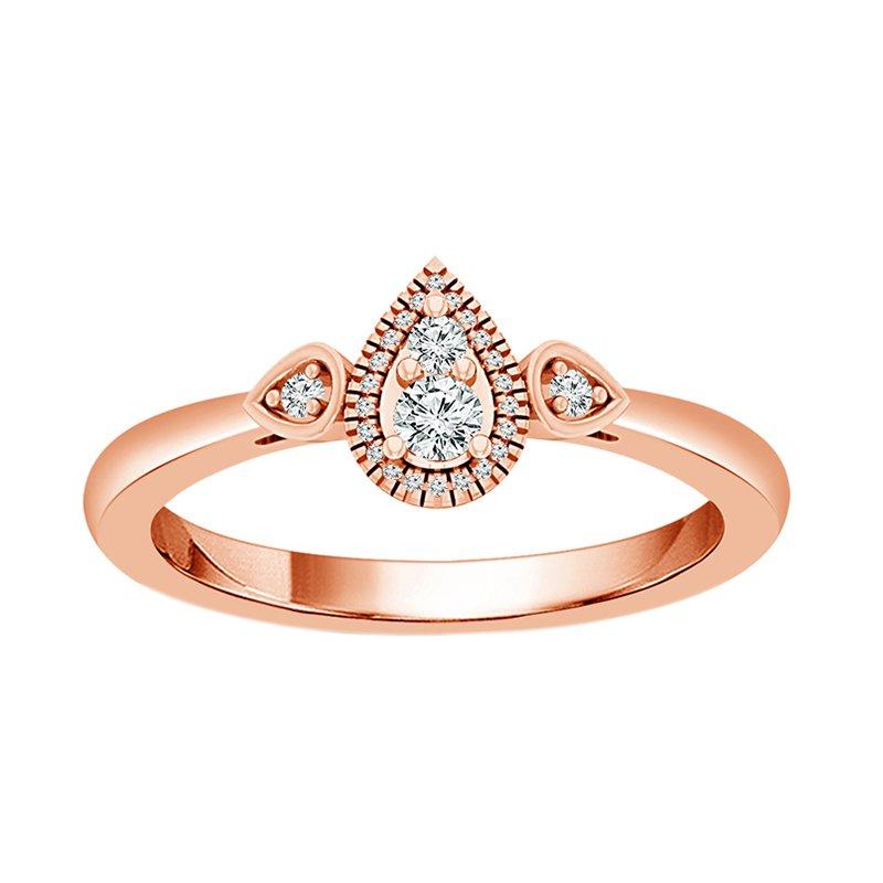 Greenberg's 10k rose gold teardrop-shaped fashion ring