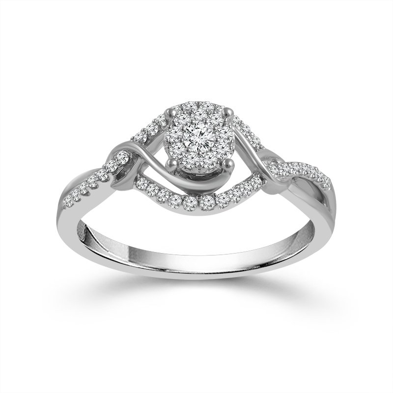 Greenberg's 10 karat white gold diamond promise ring