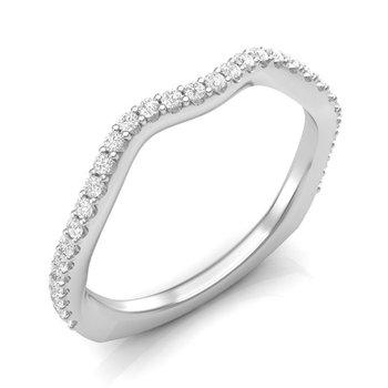 14k white gold 1/4ctw diamond wedding band
