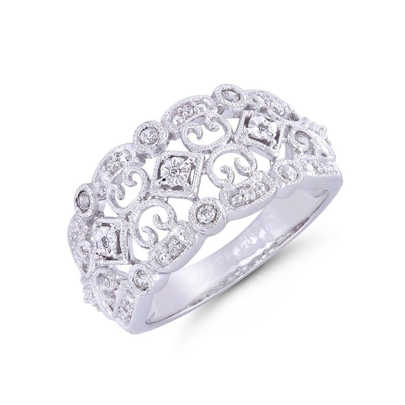 Greenberg's sterling silver diamond fashion ring