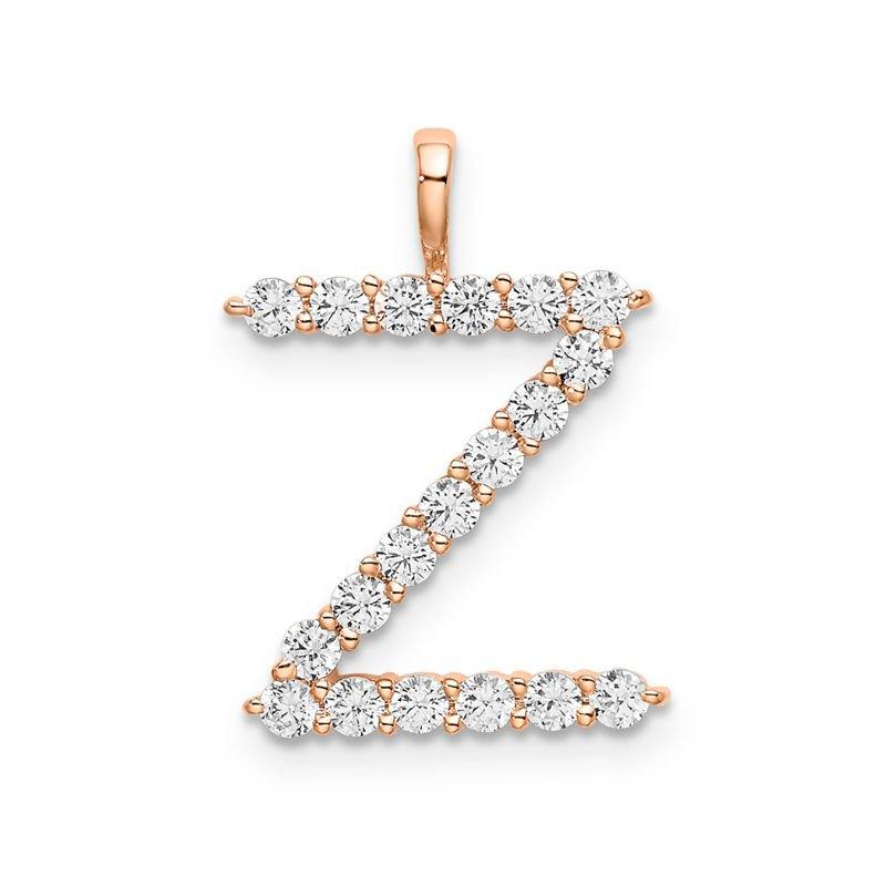 "Greenberg's 14k rose gold initial ""Z"" pendant"