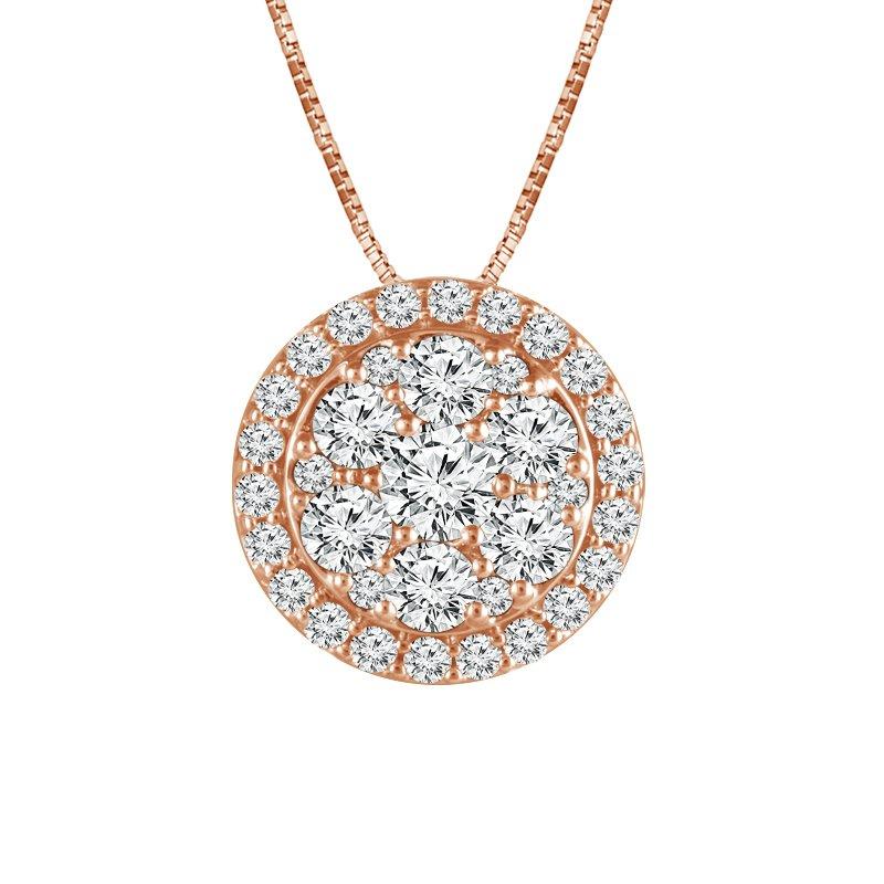 Greenberg's 14k rose gold 1ctw diamond fashion pendant
