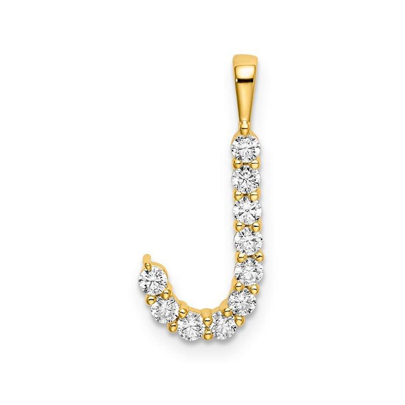 "Greenberg's 14k yellow gold initial ""J"" pendant"