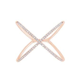 "0.18CT Diamond ""X"" Ring"