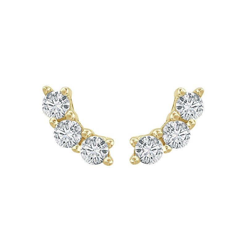 Greenberg's 14k yellow gold ear crawler earrings