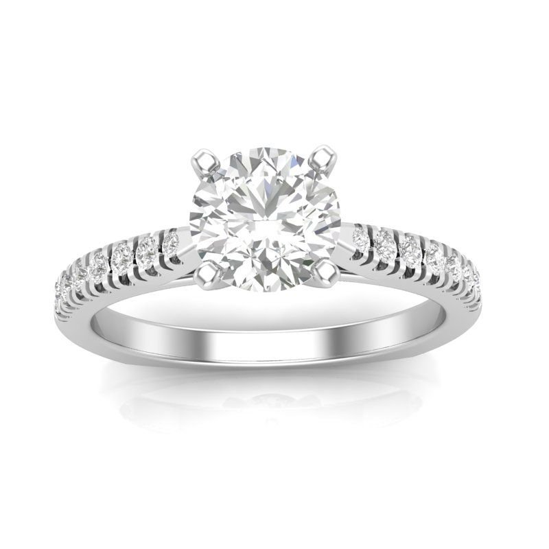 Greenberg's 14k white gold 1/5ctw semi-mount engagement ring