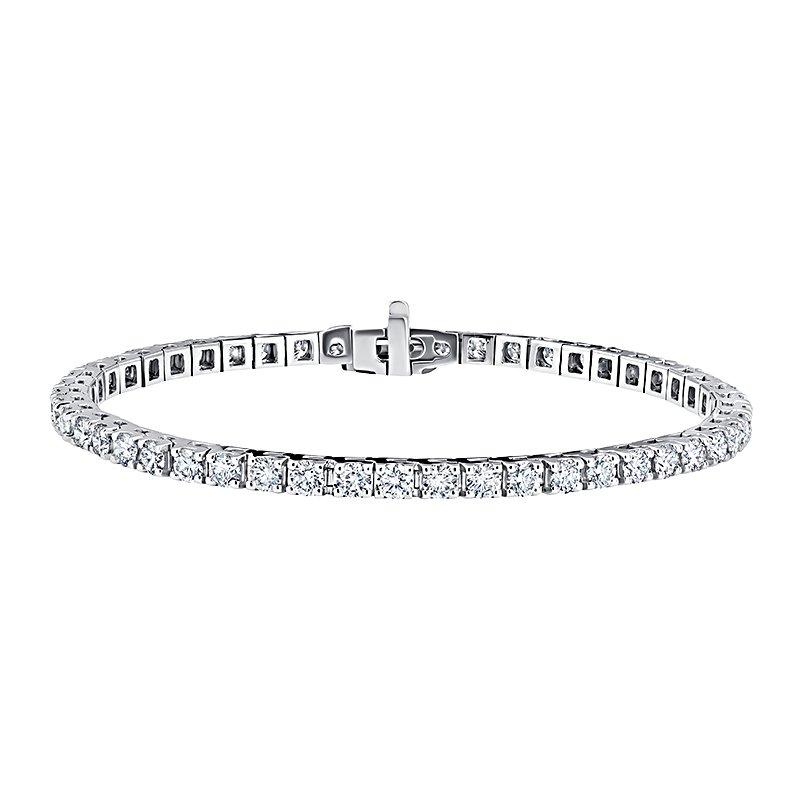 Greenberg's 14k white gold 2ctw diamond tennis bracelet