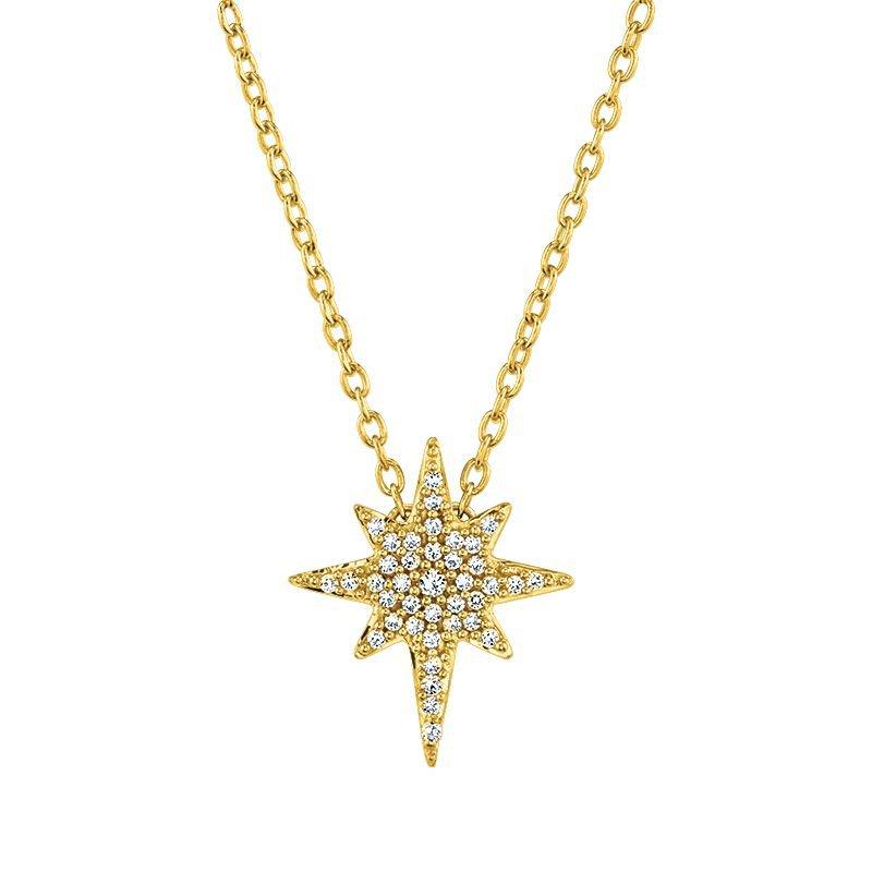 Greenberg's 10k yellow gold 1/8ctw love star pendant
