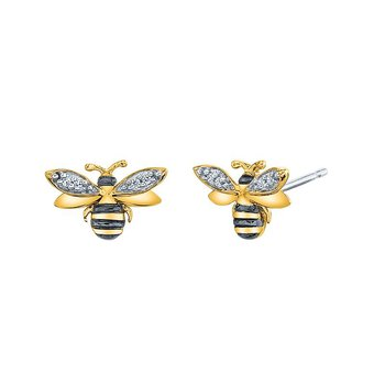 sterling silver honey bee earrings