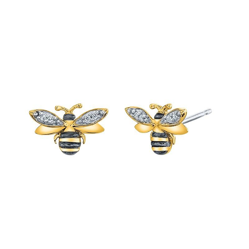 Greenberg's sterling silver honey bee earrings